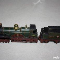 Trenes Escala: ANTIGUO TREN DE VAPOR CON TENDER DE TRIANG.. Lote 131910310