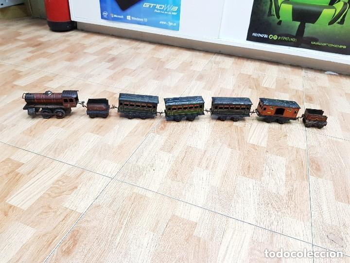Usado, Lote TREN 896 Locomotora, TENDER, Vagones, Vías segunda mano