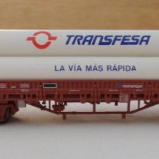 Trenes Escala: VAGON PORTA TUBOS TRANSFESA HO. Lote 132682854