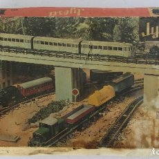 Trenes Escala: TREN FERROCARRIL ELECTRICO A PILAS JYESA H0 , REF. 1940. Lote 132937894