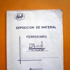 Trenes Escala: INVENTARIO MATERIAL DE VILANOVA I LA GELTRÚ. EDITADO POR RENFE. Lote 134716090