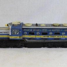 Trenes Escala: LOCOMOTORA TREN INDIANA HARBOR BELT-R.R. DE EGE HOJALATA.AÑOS 70 . Lote 134730414