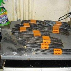 Trenes Escala: LOTAZO DE 119 TRAMOS DE VIA PARA TREN ELECTRICO ESCALA HO. Lote 140377124