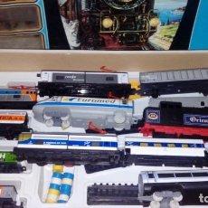 Trenes Escala: LOTAZO DE PEQUETREN: EUROMED, TALGO, SET EN CAJA CON PUENTE, ETC.. Lote 135611822