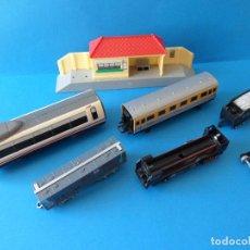 Trenes Escala: LOTE DE TRENES Y MAQUETAS DE TREN - DIVERSAS ÉPOCAS Y MARCAS - DESPIECE - CHATARRA - DIORAMAS. Lote 135827502