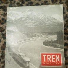 Trenes Escala: REVISTA TREN MINIATURA, AÑO 1958. Lote 136132214
