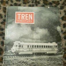 Trenes Escala: REVISTA TREN MINIATURA, AÑO 1958. Lote 136132802