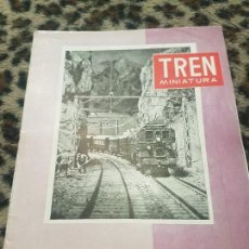 Trenes Escala: REVISTA TREN MINIATURA, AÑO 1958. Lote 136135366