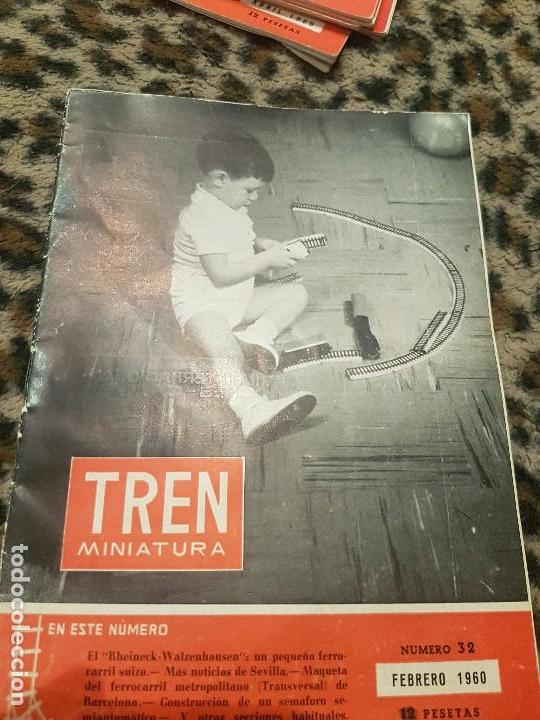 REVISTA TREN MINIATURA, AÑO 1960 (Juguetes - Trenes - Varios)