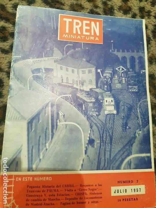 REVISTA TREN MINIATURA, AÑO 1957 (Juguetes - Trenes - Varios)
