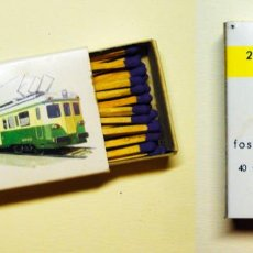 Trenes Escala: CAJA DE CERILLAS CERCANÍAS RENFE. Lote 136526374