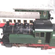 Trenes Escala: MARKLIN LOCOMOTORA VAPOR BR 80 GMEB SPUR1 ESCALA 1 REF 5712 Y 2 VAGONES PASAJEROS. Lote 136939898