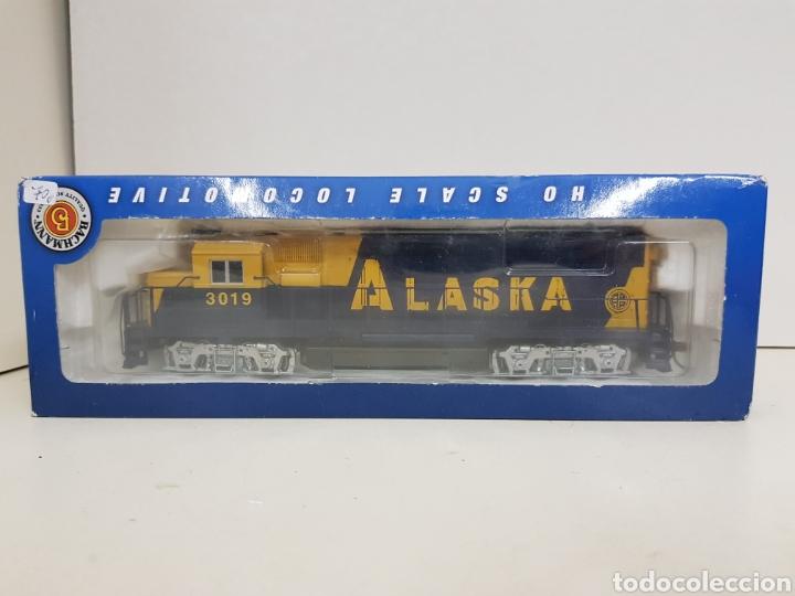 Trenes Escala: Locomotora Bachmann 63510 Alaska diésel escala H0 corriente continua azul y amarilla 20CMS - Foto 2 - 137521141