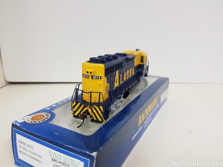 Trenes Escala: Locomotora Bachmann 63510 Alaska diésel escala H0 corriente continua azul y amarilla 20CMS - Foto 7 - 137521141