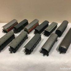 Trenes Escala: LOTE DE 11 VAGONES EN ESCALA H0 - MARCAS ROCO/FLEISCHMANN ETC - 88 FOTOS. Lote 138166574