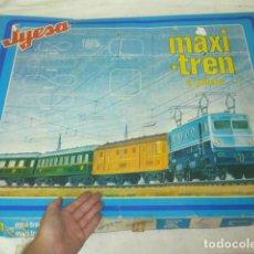 Trenes Escala: ANTIGUO JUEGO DE MESA MAXI-TREN A PILAS, JYESA. MAXI TREN. AÑOS 70 O 80.. Lote 138818590