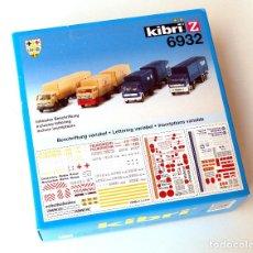 Trenes Escala: KIBRI Z 6932 • 4 CAMIONES SERVICIOS COMUNITARIOS (INCL. RÓTULOS) • ESCALA Z (KITS 85 Y 71 MM). Lote 138874558