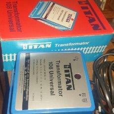 Trenes Escala: TRANSFORMADOR UNIVERSAL TITÁN MODELO 111 NUEVO A ESTRENAR EN SU CAJA. Lote 139485857