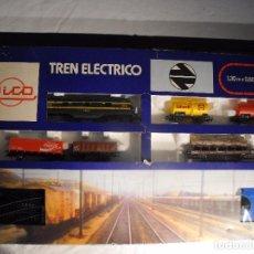 Trenes Escala: TREN ELÉCTRICO DE MERCANCÍAS. DE LA MARCA RICO.. Lote 139523882