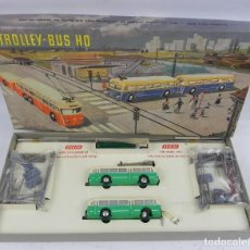 Trenes Escala: TROLLEY BUS HO 102 EHEIM, MADE IN WEST GERMANY, TROLE BUS, CAJA COMPLETA EN EXCELENTE ESTADO DE CONS. Lote 139947626