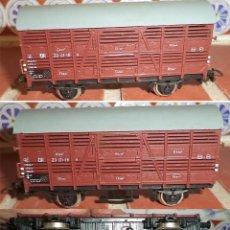 Trenes Escala: VAGÓN DE TREN DE MERCANCIAS PICO 9 CM DE LARGO 15 MM DE ANCHO VIAS. . Lote 140333510