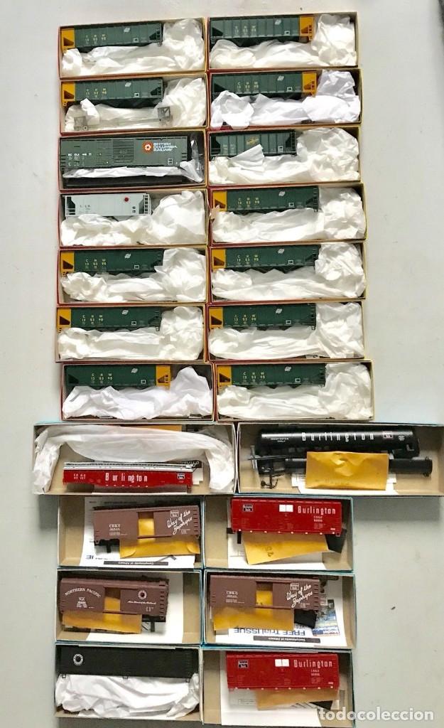 LOTE DE 22 VAGONES AMERICANOS ESCALA H0 COMPLETAMENTE NUEVOS (Juguetes - Trenes Escala H0 - Otros Trenes Escala H0)