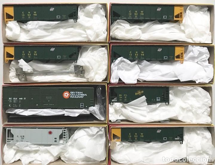 Trenes Escala: Lote de 22 Vagones Americanos Escala H0 Completamente Nuevos - Foto 2 - 135880366