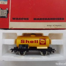 Trenes Escala: JOUEF HO VAGÓN MERCANCÍAS SHELL CISTERNA REF. 6307 MADE IN FRANCE. Lote 142953238
