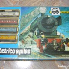 Trenes Escala: PEQUETREN (TREN ELÉCTRICO A PILAS) DE SEINSA. FABRICADO EN ESPAÑA. Lote 144779646
