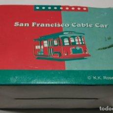 Trenes Escala: SAN FRANCISCO CABLE CAR , TREN MONORAIL , DE MADERA 11 CMS . Lote 145023934