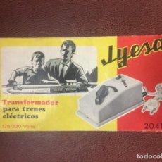 Trenes Escala: JYESA TRANSFORMADOR PARA TRENES ELECTRICOS REF 2041. Lote 145109098