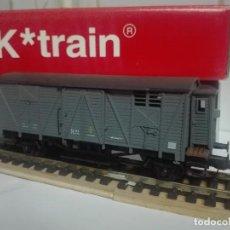 Trenes Escala: VAGÓN CERRADO CON GARITA J-303871 ,K TRAIN. Lote 145125770