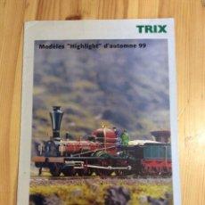 Trenes Escala: CATALOGO TRENES TRIX 1999. Lote 145172492