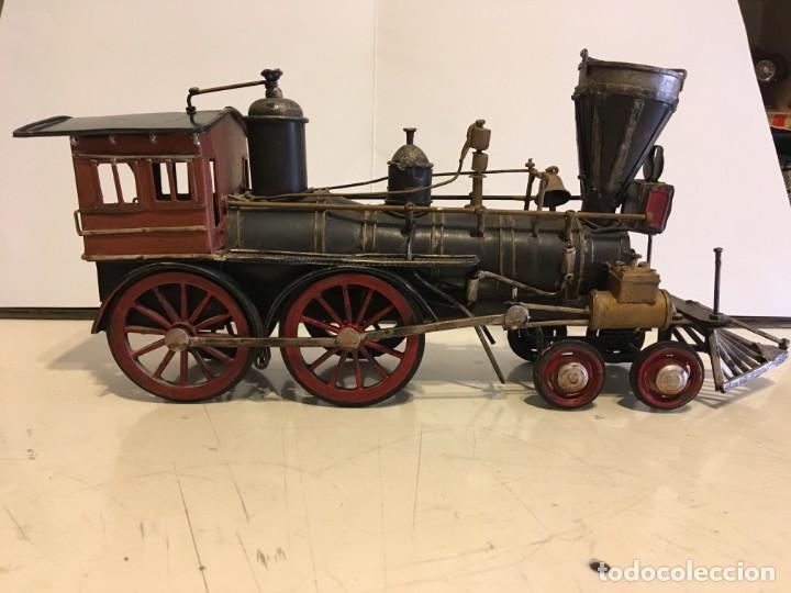 Trenes Escala: Antigua locomotora de tren de metal - Foto 5 - 146051482