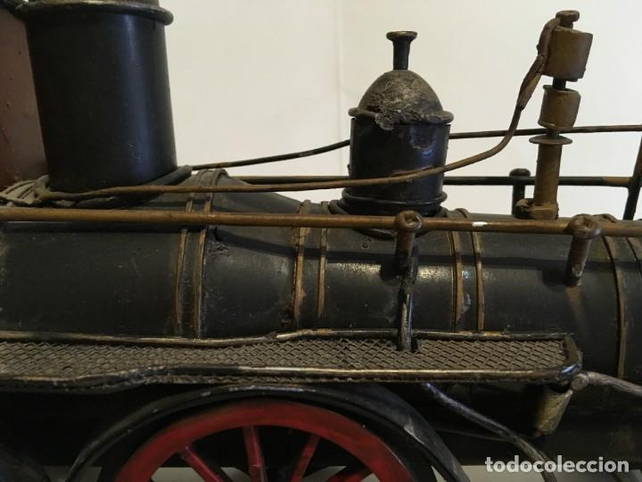 Trenes Escala: Antigua locomotora de tren de metal - Foto 13 - 146051482