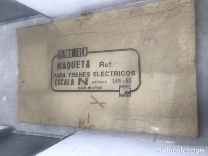 Trenes Escala: IBERTREN MADE IN SPAIN REF 801 PERMA TREN ESCALA N MAQUETA 1,45X85 CAJA ORIGINAL MUCHOS EXTRAS - Foto 2 - 148038814
