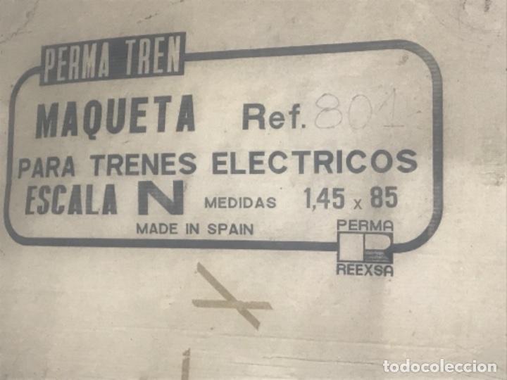 Trenes Escala: IBERTREN MADE IN SPAIN REF 801 PERMA TREN ESCALA N MAQUETA 1,45X85 CAJA ORIGINAL MUCHOS EXTRAS - Foto 3 - 148038814