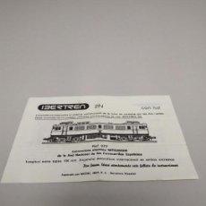 Trenes Escala: J- INSTRUCCIONES DE CONSERVACION Y ENGRASE IBERTREN LOCOMOTORA REF 973 2N IP 23.114. Lote 148058958