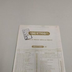 Trenes Escala: J- CATALOGO IBERTREN MATERIAL TARIFAS DE VENTA AL PUBLICO MARZO 1987. Lote 148062718