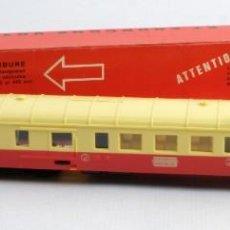 Trenes Escala: VAGÓN JOUEF EN COLOR CREMA Y ROJO. REF. 851-CON SU CAJA-AÑOS 60-70. Lote 148544186