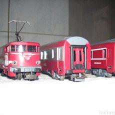 Trenes Escala: TREN ELECTRICO FRANCES CON 2 VAGONES. Lote 149715664