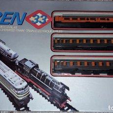 Trenes Escala: TREN 33, TREN VALTOY, VALENCIANA DE JUGUETES, TREN ANTIGUO, JUGUETE ANTIGUO. Lote 150015906