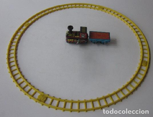 Trenes Escala: TRAIN SET MECHANICAL - FUNCIONA A CUERDA - MADE IN JAPAN - Foto 2 - 150330750