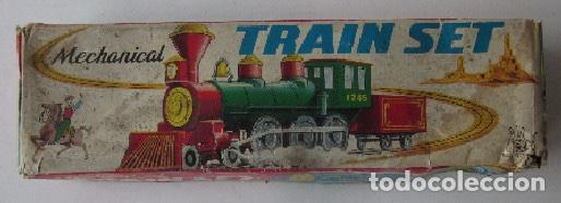 Trenes Escala: TRAIN SET MECHANICAL - FUNCIONA A CUERDA - MADE IN JAPAN - Foto 5 - 150330750