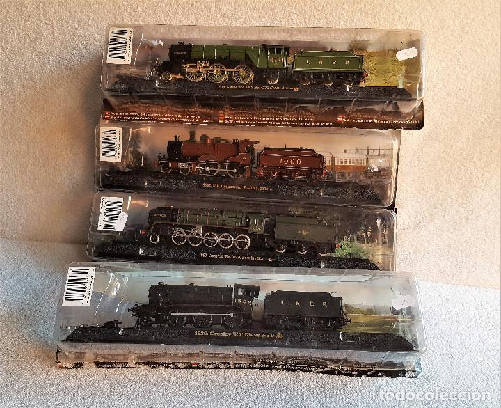 Züge Spur: SUPER LOTE 4 TRENES - 37.CM LARGO DE PASTA MAQUETA - SIN USO EN BLISTER - Foto 2 - 150490446