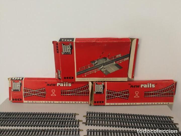 Trenes Escala: LOTE VÍAS PASO A NIVEL H0 JOUEF - Foto 2 - 150768558
