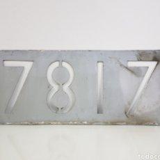 Trenes Escala: PLACA FERROVIARIA 7817 REAL MEDIDAS 44 X 19 CM. Lote 151087282