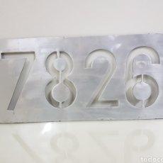 Trenes Escala: PLACA FERROVIARIA METÁLICA 7826 REAL MEDIDAS 44 X 19 CM. Lote 151087725