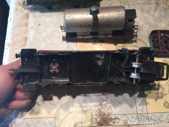 Trenes Escala: Antiguos 4 tren / trenes de juguete de varias marcas como paya de los años 40-50 - Foto 5 - 151167978