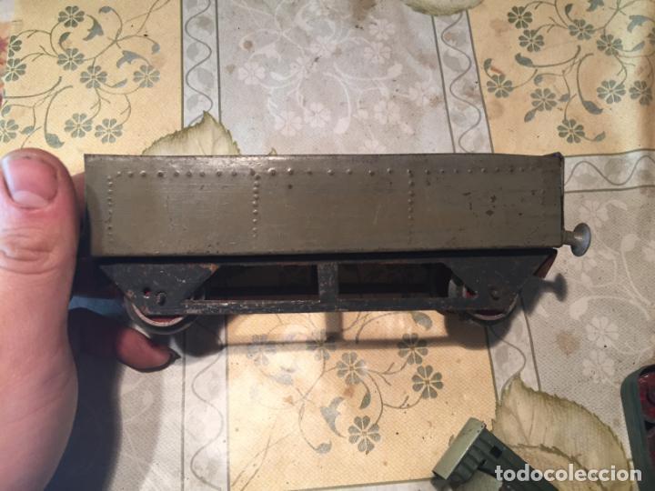 Trenes Escala: Antiguos 4 tren / trenes de juguete de varias marcas como paya de los años 40-50 - Foto 22 - 151167978
